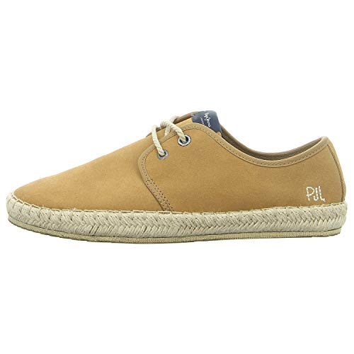 Pepe Jeans London Tourist Basic 4.0, Alpargata Hombre, Marrón (Tan), 43 EU