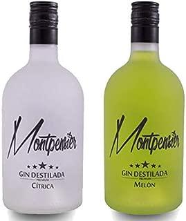 Pack Montpensier Gin Premium Cítrica& Melón - Ginebra Premium realizada en Andalucía de manera artesanal con 5 destilaciones, 10 botánicos y alcohol de grano 100% - 70cl