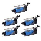 POFET 5 piezas ME-8108 brazo de palanca de rodillo ajustable arduino interruptor de límite NC-NO CNC fresador