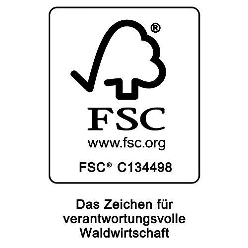 Deuba Schwungliege FSC®-zertifiziertes Akazienholz Ergonomisch Wippfunktion Gartenliege Sonnenliege Relaxliege Saunaliege - 2
