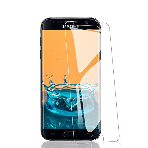 RIIMUHIR Films et Protections d'Écran pour Samsung Galaxy S7 [3 pièce], Verre Trempé pour Samsung Galaxy S7 Couverture Complète 9D, Film Protecteur en Verre Trempé HD et Transparent