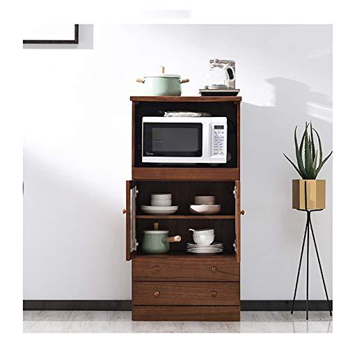 Wujiancheng Anrichten Mikrowelle Kaffeemaschine Utility-Buffet Accent Entryway Bar Aufbewahrung Küche Entryway Flur Lagerschrank Für Wohnzimmer Küche Schlafzimmer (Color : Brown, Size : 60x42x120cm)
