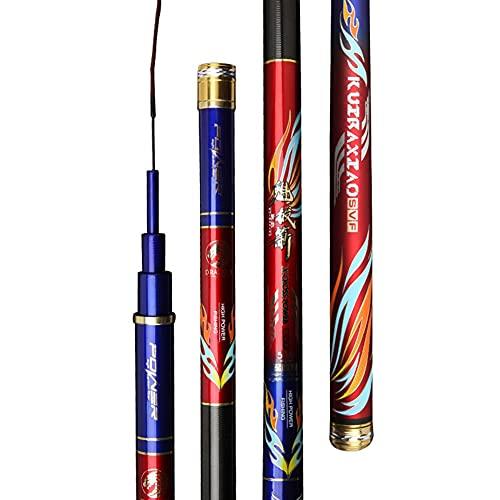 YADLCR Caña de Pescar telescópica 3.6-7.2m Súper Duro Alto Carbono Caña De Pescar Caña De Pescar Plataforma De Arenque (Size : 3.9m)
