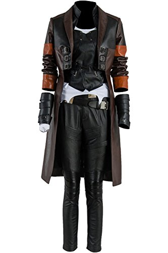 Wecos Halloween Costume Women Cosplay Uniform Coat Pants X-Large Black