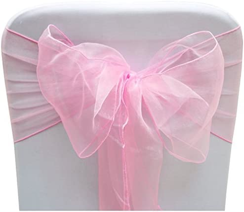 Set of 10 Chair Bows Sashes Tie Back Decorative Item Cover ups For Wedding Reception Events product image