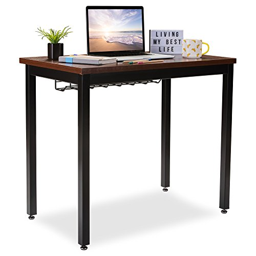 "Small Computer Desk for Home Office - 36"" Length Table w/Cable Organizer -..."