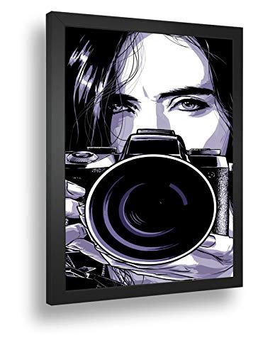 Quadro Decorativo Poste Jessica Jones Fotografa Retro
