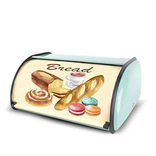 Bread box, metal container storage box, anti-rust, rustic stand counter, simple fashion