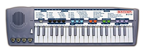 Bontempi B310 - Keyboard mit 37 Tasten / 8 Sounds und 8 Rythmen