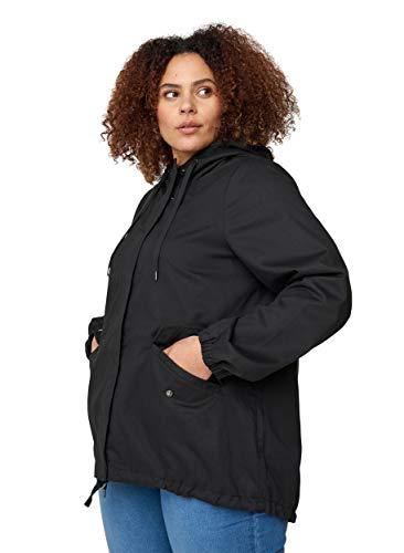 Zizzi Große Größen Damen Kurze Jacke mit Taschen und Kapuze Gr 42-56