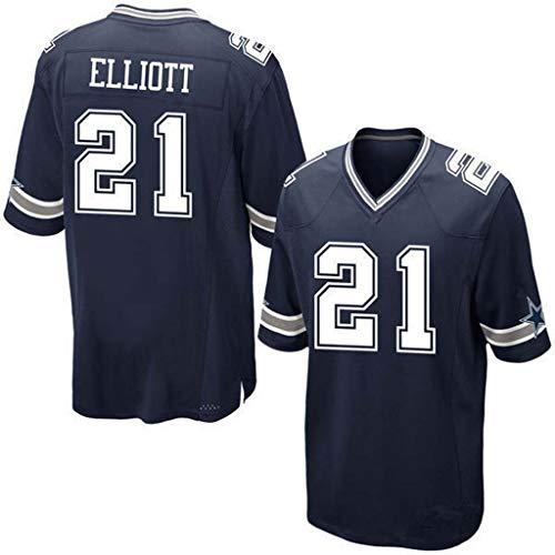 NBJBK NFL Rugby Trikot, Dallas Cowboys 21# Fußball Sportswear Kurzarm Sport Top T-Shirt,C-21,L