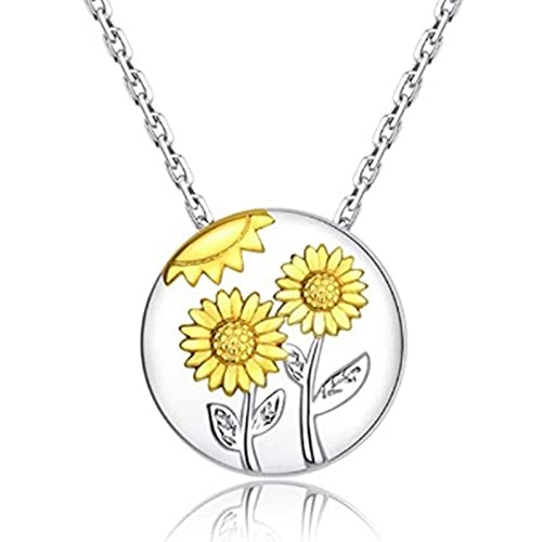 PicZhiwenture Sunflower Heart Shape Cremation Urn Necklace For Ashes Charm Pendant Foreve Love In My Heart Memorial Pendant Jewelry