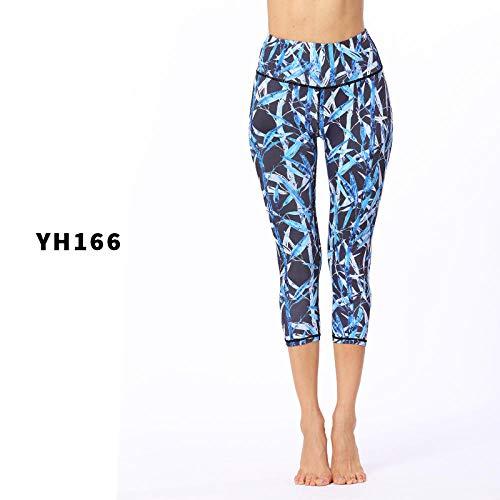 bayrick Celebridad de Internet Mismo Estilo,Pantalones de Yoga de impresión Delgada Altos elásticos Deportes Femeninos-C_SG