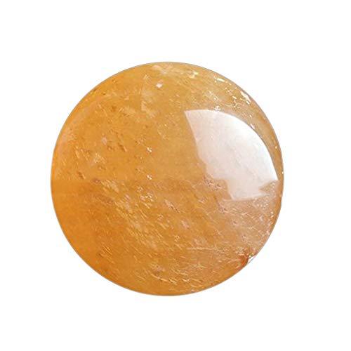 heacker Citrino Natural del Cristal de Cuarzo Esfera Bola Amarilla óptico calcita cristalina espato de Islandia Esfera de la Bola