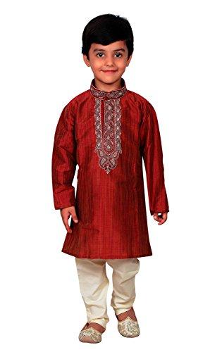 Desi Sarees Chicos Pijama Sherwani Kurta de Niños Pakistaníes Salwar Kameez Boda 856