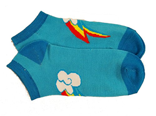 Toy Zany My Little Pony Rainbow Cutie Mark Footies Crew Socks
