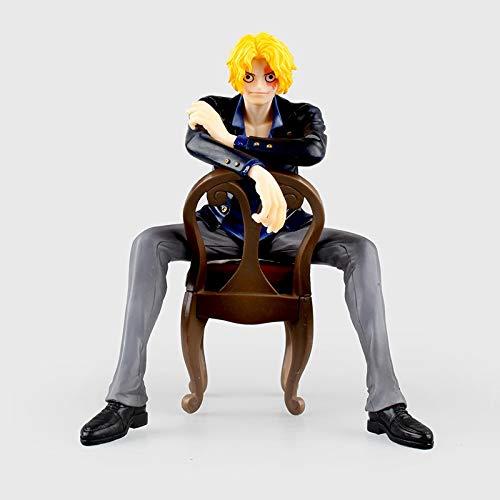 Lupovin 16cm Figura de acción del Anime One Piece Ejército Revolucionario SOC Sabo se Sienta en Silla Ver Modelo de PVC Colección muñeca de la Historieta