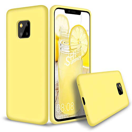 Huawei Mate 20 Pro Hülle Silikon, Abitku Dünn Licht Glatt Stoßfest Schutz Protective Handy Hülle für Huawei Mate 20 Pro 6,3 Zoll 2018, (Gelb)