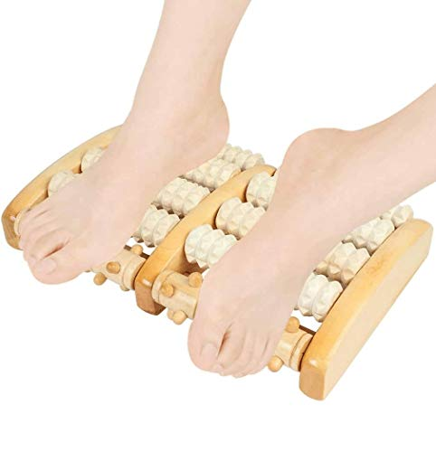 Dual Foot Massager Roller, Foot Massage Dual Wooden Stress Relief Roller? Massage Roller for Home or Office