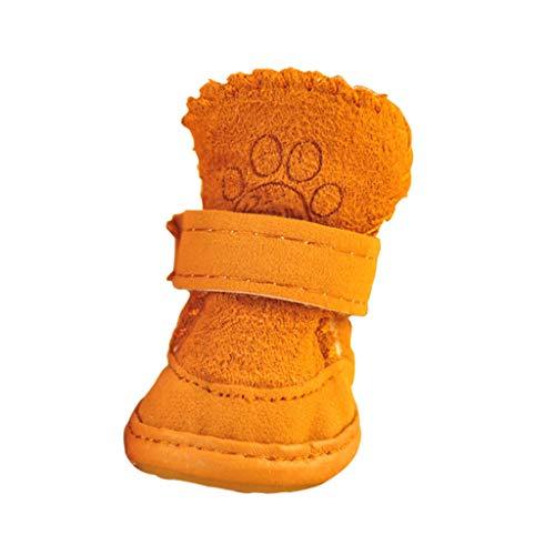 Puppy Schuhe Teddy Shoes Schnee Stiefel Haustier Schuhe als Bär Haustier Hund Schuhe Katze Schuhe Herbst und Winter Schuhe (Color : B, Größe : 1)