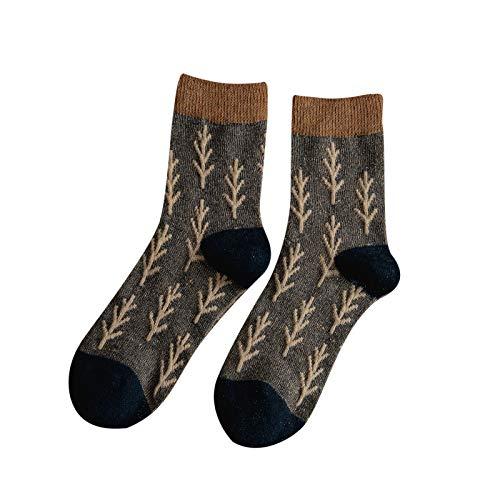 Hunpta@ Retro Frauen Socken Winter Warm Mode Baummuster Damen Atmungsaktivität Dicke Socken
