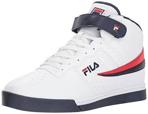 Fila Men's Vulc 13 MID Plus 2 Walking Shoe, White Navy red-125, 9.5 D US