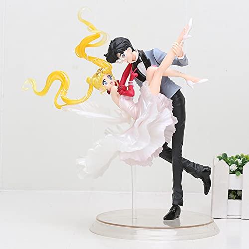 24 Cm Anime Sailor Moon Figuras Tsukino Chiba Mamoru Bailando con Máscara Chouette Modelo De Juguete, Dibujos Animados Fans Un Regalo De Cumpleaños