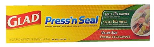Glad Press 'n Seal Wrap (One Roll, 140 sq. ft.) by Glad