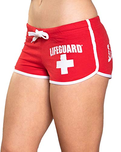 LIFEGUARD Juniors Size Hi-Cut Short (Medium, Red)
