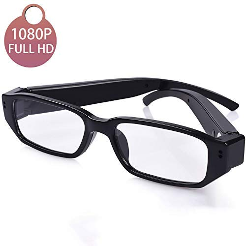 [Upgraded] 1080P Full HD Spy Camera Glasses Wearable Hidden Camera with Video Recording Mini Sport Outdoor Video Glasses with Camera (32G SD Card Included)