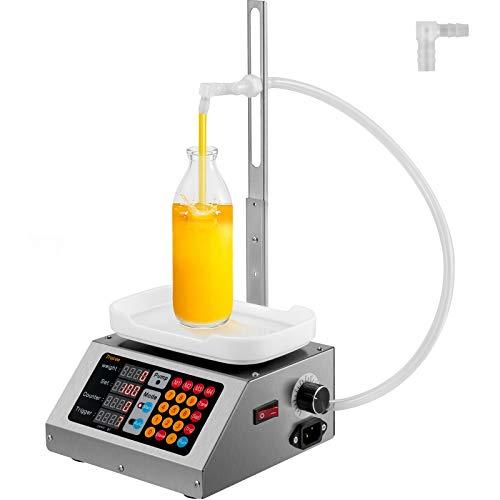 VEVOR Máquina de Llenado de Líquidos 8-3000g 3,2 L/min Llenadora de Botellas 350 x 230 x 190 mm Máquina Llenadora de Líquido Eléctrica Potente para Llenar Líquidos en Farmacias/Cosméticos/Alimentos