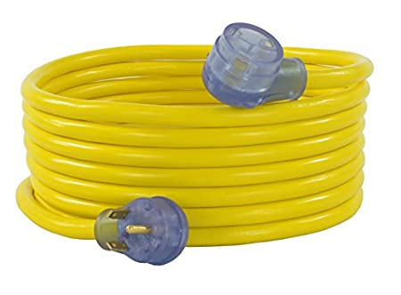 30 Amp Male to 30 Amp Female GoWISE Power RVC3004 50-Feet 30-Amp RV Extension cord with Handles