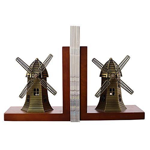 ZAQWSXCDE Sculpture Figurine Statue De Sculpture Moulin À Vent Support De Livre Décoration Bureau Bureau D'Étude Décoration De La Maison Livre par Serre-Livre