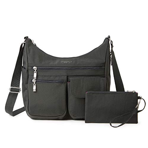 Baggallini Women's Everywhere Bagg with RFID, Charcoal