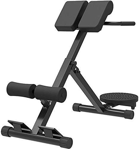 Waful Roman Chair Back Hyperextension Bench, Back Hyper Extension Bench- Adjustable AB Bench Hyperextension Exercise Strength Training Back Machines with Waist Twisting Disc
