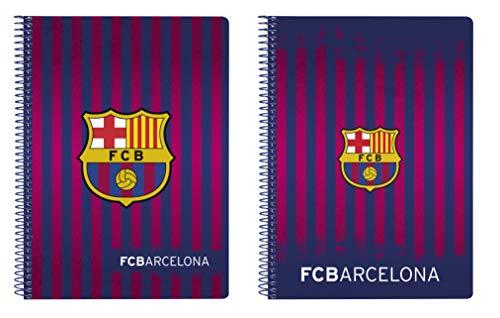 FCB FC Barcelona Bloc Tapa Dura, Unisex, Azul, 22 cm
