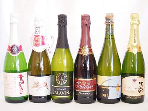 フルーツ甘口ワイン6本セット 嘉スパークリングスウィート マスカットオレンジ 甘口スパークリングワイン モンサラ(スペイン)カラヴィニャモスカート(スペイン) 天使のアスティ(イタリア)トーゾ(イタリア)青森りんごシードル(日本)750ml×6本