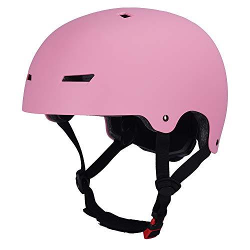 LOOGU Skateboard Helm Scooter BMX Helm Skaterhelm 3 Größen (54-61cm) Fahrradhelm für Kinder Jugendliche Erwachsene Sport Helm – Mit CPSC Zertifikat