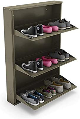 Peng Essentials Space Saver 3 Level 30 Inch Foldable Shoes Rack