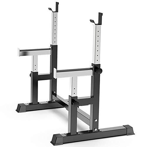 ZZLYY Multifunctional Squat Stand, Adjustable Barbell Squat Rack, Stands Sturdy Steel Holder Station Weight Plate Bench Press for Home Gym