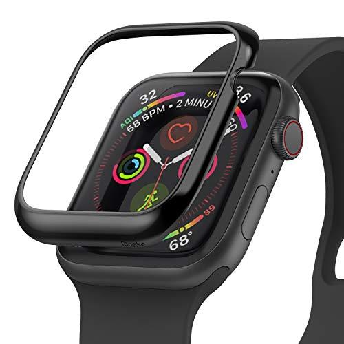 Ringke Bezel Styling für Apple Watch 6 44mm Hülle Edelstahl Gehäuse Schutz Lünette Ring [Kompatibel mit Apple Watch SE, Series 5,4] - AW4-44-03