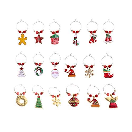 HEALLILY Kerst Bedels Hangers 18 Stks Metalen Wijnglas Vorm Diy Sieraden Maken Knutselen Metalen Bedels Connectoren Voor…