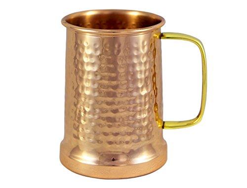 Alchemade Copper Beer Stein - 100% Pure Hammered Copper mug - Heavy Gauge -...