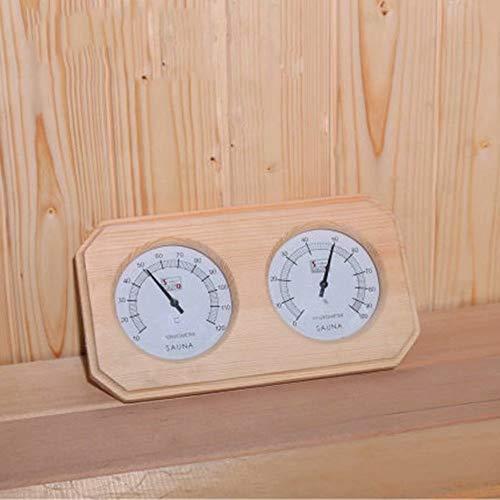 HSTFⓇ Hölzernes Saunathermometer Hygrometer, Saunazubehör 255 * 135 * 30mm, genaue Überwachung der Raumtemperaturfeuchtigkeit - einfach abzulesen