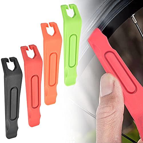 KBNIAN Palanca de plástico para neumáticos de bicicleta de 3 piezas para quitar neumáticos para bicicletas de carreras o bicicletas de montaña