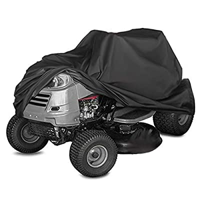 TheElves 210D High Density Cover for Riding Lawn Mower and Ride-On Garden Tractor - Waterproof Windproof Dustproof Anti-Mildew Anti-UV, Heavy Duty Outdoor Indoor Shelter