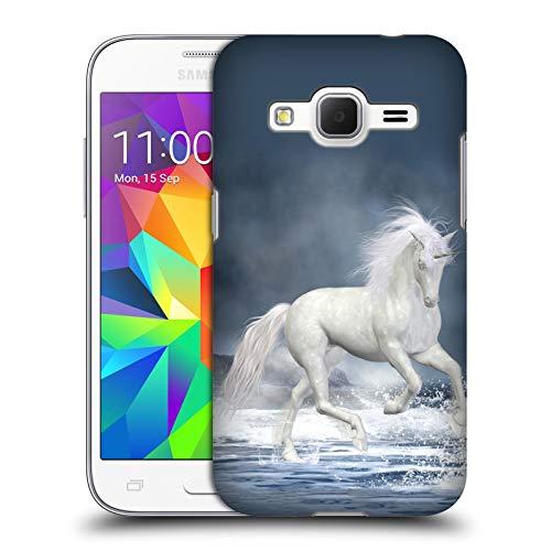 Head Case Designs Licenza Ufficiale Simone Gatterwe Giocando Pegasus E Unicorni Cover Dura per Parte Posteriore Compatibile con Samsung Galaxy Core Prime