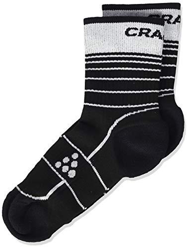 Craft - Calzini unisex, Unisex - Adulto, Calzini, CR1903991, nero/bianco, FR: XS (Taglia produttore: 34-36)