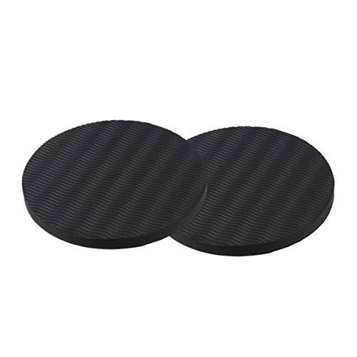 Vorcool 2 Stück Kniematten, dicke Yoga Kissen, rund für Hände, Handgelenk, Knie, Ellenbogen, Schulter, für Yoga, Pilates (schwarz)