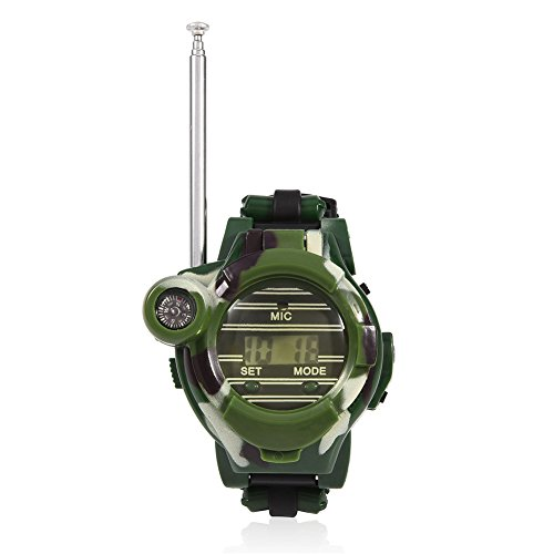 2Pcs Mini Reloj Walkie Talkies para Niños 7 En 1 Interfono Multifuncional para Juguetes para Niños Interacción Padre-Hijo Radio Bidireccional De Largo Alcance